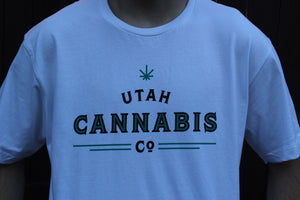 Utah Cannabis Company Blue Shirt