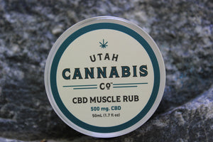 Utah Cannabis Company CBD Muscle Rub Wholesale