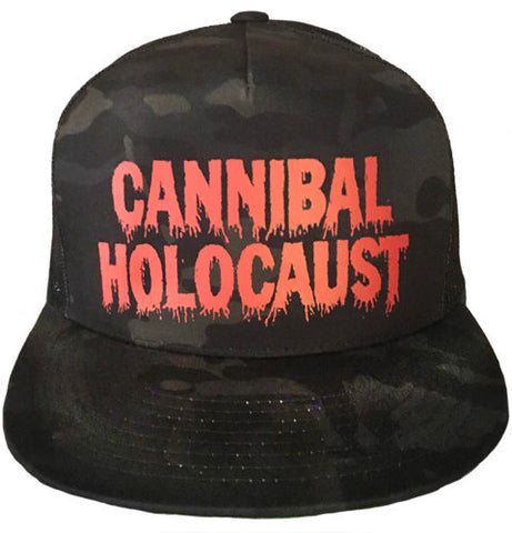 """CANNIBAL HOLOCAUST"" BLACK CAMO SNAPBACK HAT"