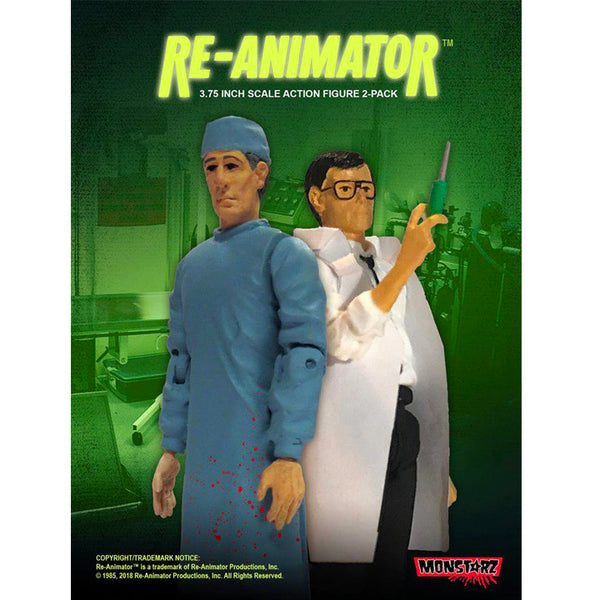 "Re-Animator Dr. Herbert West and Dr. Carl Hill 3.75"" Scale Retro Action Figure 2 pack"