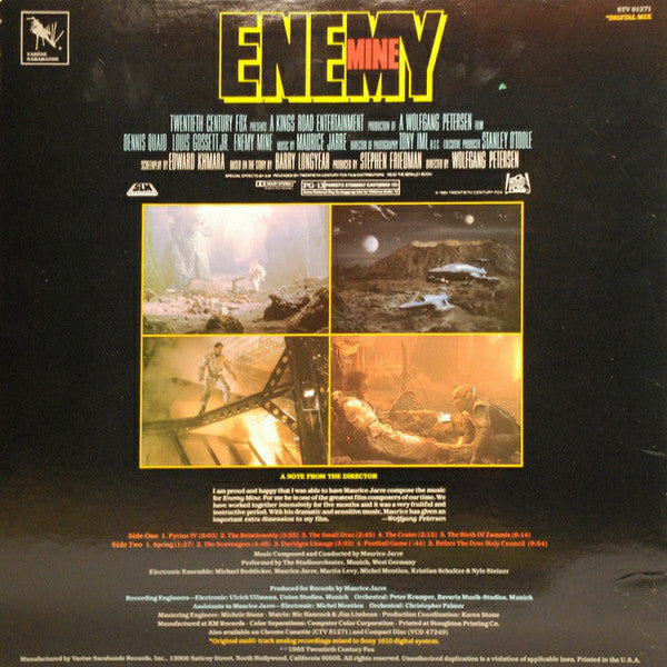 """ENEMY MINE"" SOUNDTRACK RECORD - SEALED"