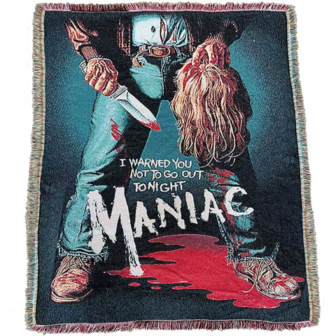 PRE-ORDER MANIAC POSTER WOVEN BLANKET