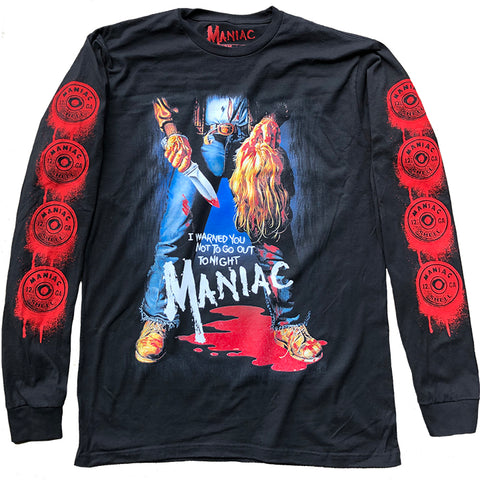 MANIAC POSTER LONG SLEEVE SHIRT