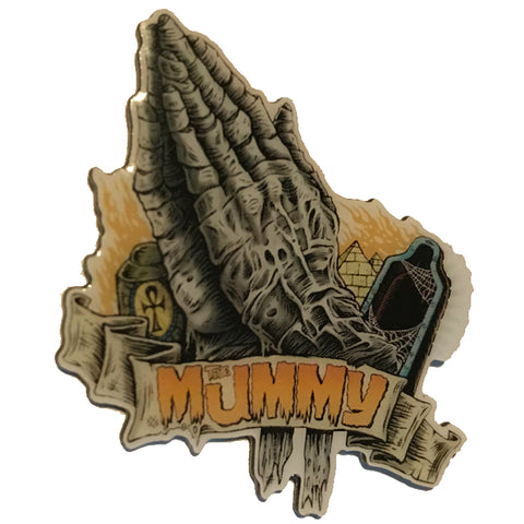 GHOULISH GARY PRAY FOR THE MUMMY PIN