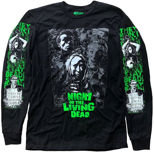 NIGHT OF THE LIVING DEAD LONG SLEEVE SHIRT