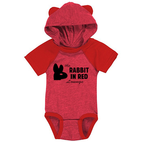 RED RABBIT HOODED JUMPER