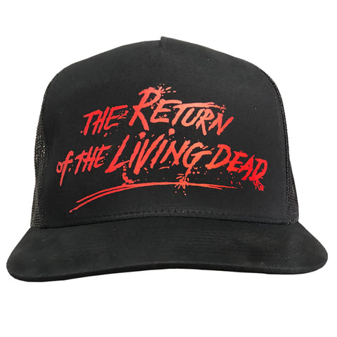 THE RETURN OF THE LIVING DEAD - RED LOGO SNAPBACK HAT