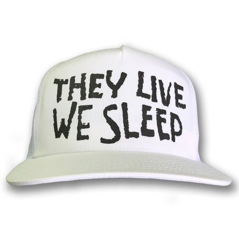 THEY LIVE / WE SLEEP - WHITE SNAPBACK HAT