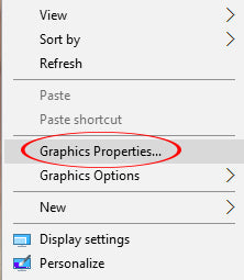 Graphics Properties