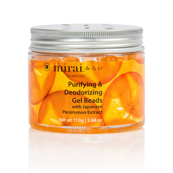 Purifying Deodorizing Gel Beads with Japanese Persimmon