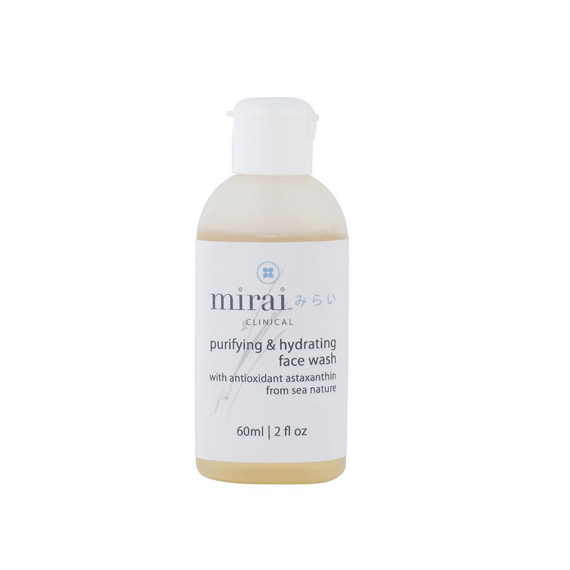 Purifying & Hydrating Face Wash Travel Size Mirai Clinical