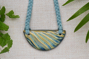 Ceramic Half Moon Necklace - Lillie Ceramics