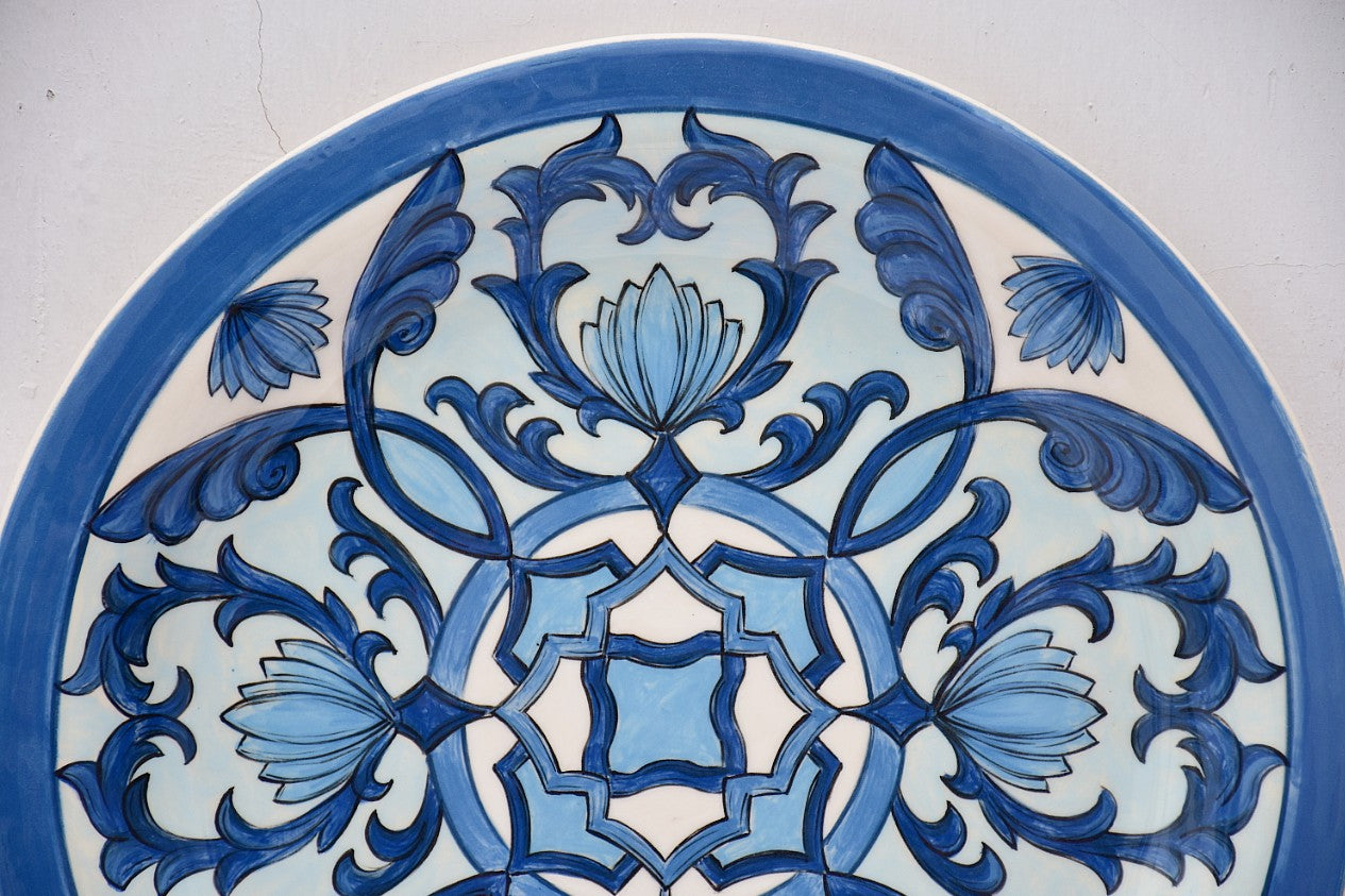 Hand Crafted Ceramic Ornamental Wall Plate in Stoneware - Lillie Ceramics