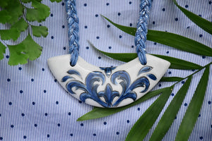 Ceramic Boomerang Necklace - Lillie Ceramics