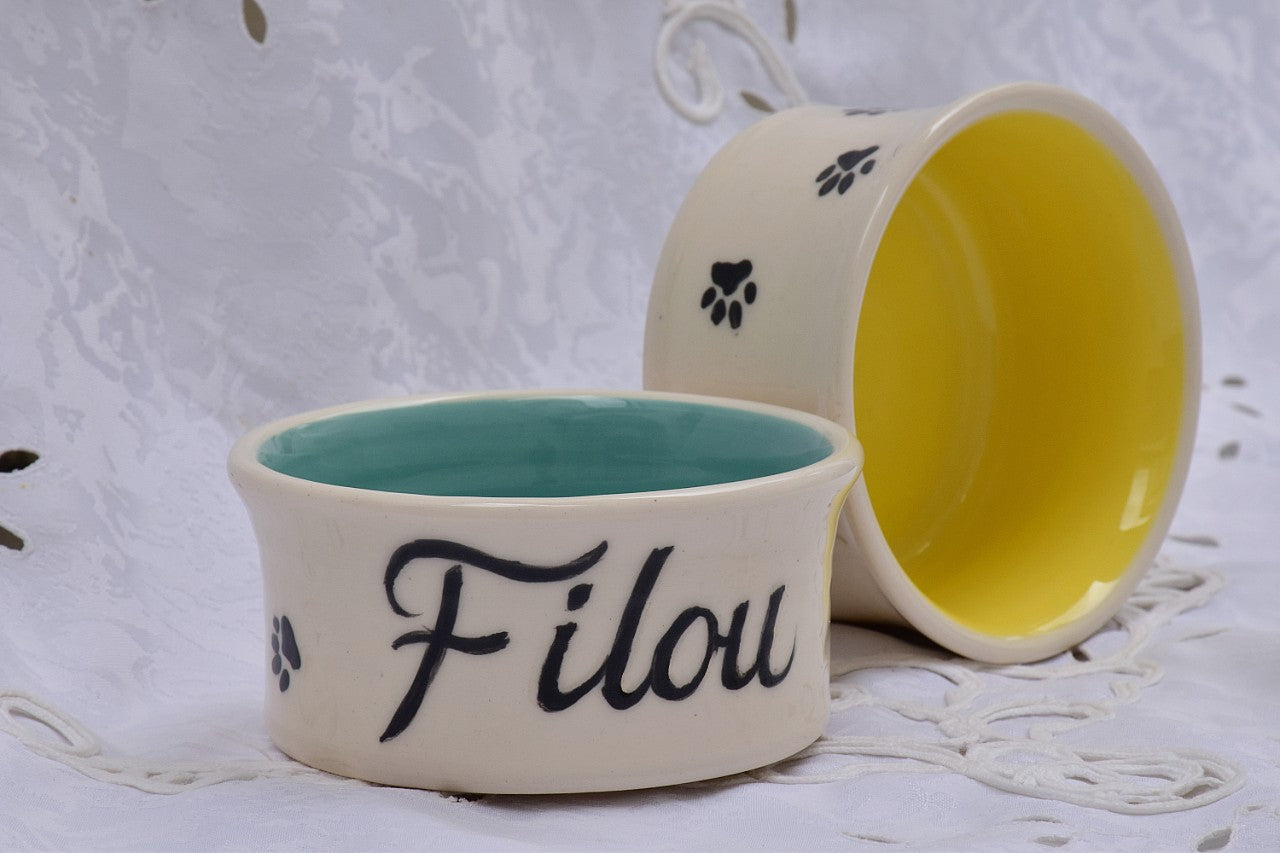 Custom Food Bowl for Pets in Stoneware/Prices from - Lillie Ceramics