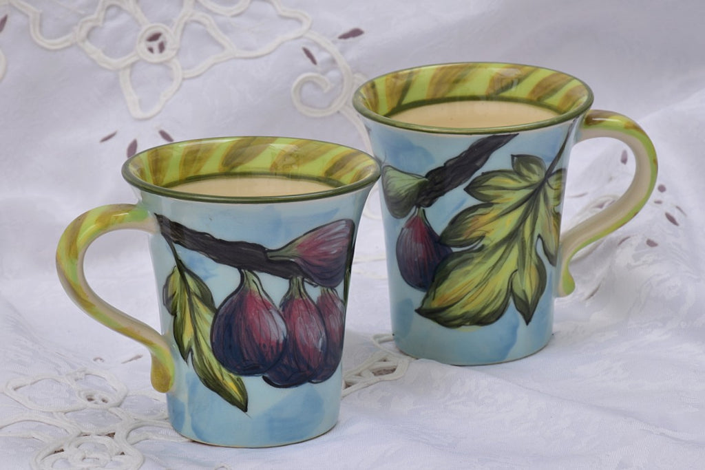 Hand Thrown & Hand Decorated Ceramic Mug in Stoneware, 300 ml - Lillie Ceramics
