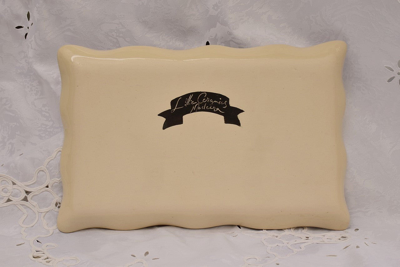 Handcrafted Ceramic Rectangular Serving Platter in Stoneware XL - Lillie Ceramics