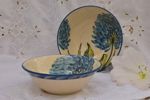 Hand Thrown Ceramic Bowl for Soup & Pasta in Stoneware - Lillie Ceramics