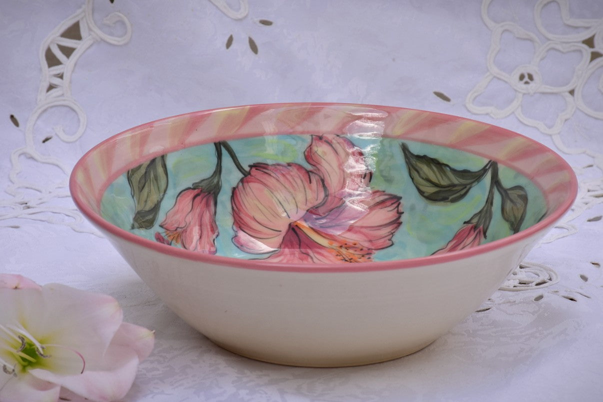 Wheel Thrown Decorative Ceramic Serving Bowl in Stoneware - Lillie Ceramics