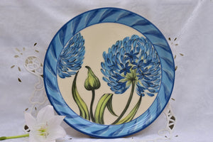 Wheel Thrown Ceramic Dinner Plate in Stoneware - Lillie Ceramics