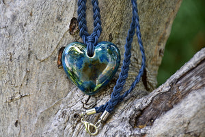 Ceramic Heart Necklace - Lillie Ceramics