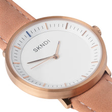 Load image into Gallery viewer, Traveller - Rose Gold Peach Leather