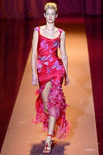 Load image into Gallery viewer, EMANUEL UNGARO FW 2004 Cherry silk set with printed flowers and butterflies