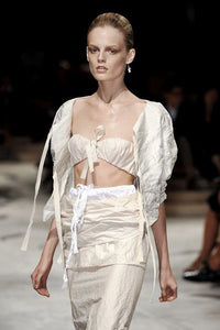 PRADA SS2009 Light beige crinkled skirt suit
