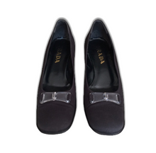 Load image into Gallery viewer, PRADA black 2000's square heels