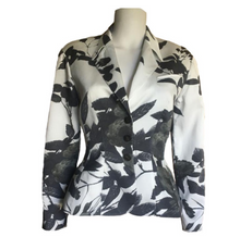 Load image into Gallery viewer, THIERRY MUGLER black and white flowers blazer