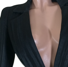 Load image into Gallery viewer, VIVIENNE WESTWOOD tailored black stripes jacket with long V neck