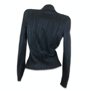 VIVIENNE WESTWOOD tailored black stripes jacket with long V neck