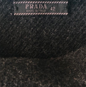 PRADA Fall/Winter 1998 Wool grey skirt