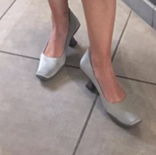 Load image into Gallery viewer, PRADA 2000s Grey nylon heels