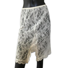 Load image into Gallery viewer, DONNA KARAN intimates lace cream skirt