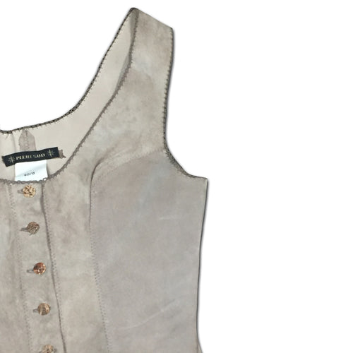 PLEIN SUD beige leather bustier