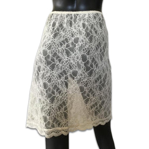 DONNA KARAN intimates lace cream skirt