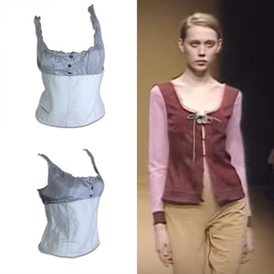MIU MIU/ 2000 Silk and cotton top