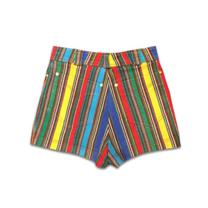 GIANNI VERSACE couture striped mini short