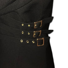 Load image into Gallery viewer, THIERRY MUGLER black loops zip jacket