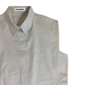 JIL SANDER grey shirt 100% cotton