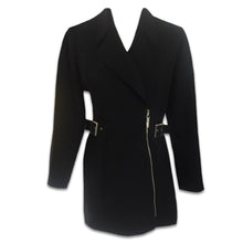 Load image into Gallery viewer, THIERRY MUGLER black loop zip jacket