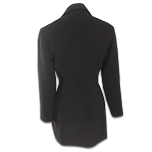 THIERRY MUGLER black loop zip jacket
