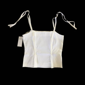 ALBERTA FERRETTI white cotton top