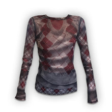Load image into Gallery viewer, JEAN PAUL GAULTIER  transparent mesh top Wool pattern