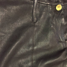 Load image into Gallery viewer, PLEIN SUD black leather low waist pant