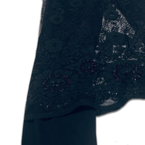 DOLCE&GABBANA black flare pant with lace skirt