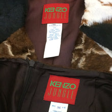 Load image into Gallery viewer, KENZO 90s animal print faux fur set/ jacket+skirt