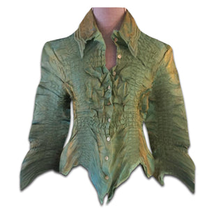 INDIES crocodile creased shirt