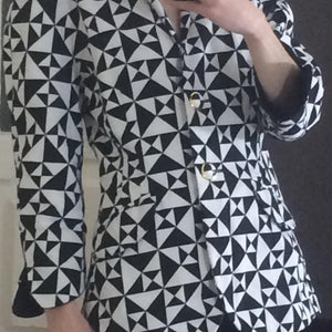 ESCADA 90s Black and white blazer